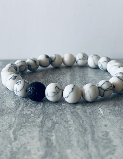 Natural Lava Rock Beads Chakra Bracelet