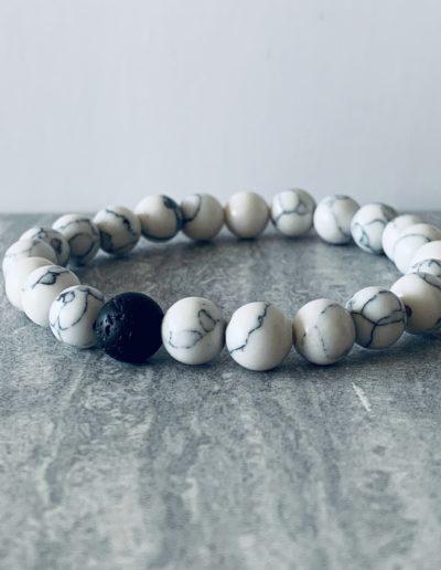 Natural Lava Rock Beads Chakra Bracelet