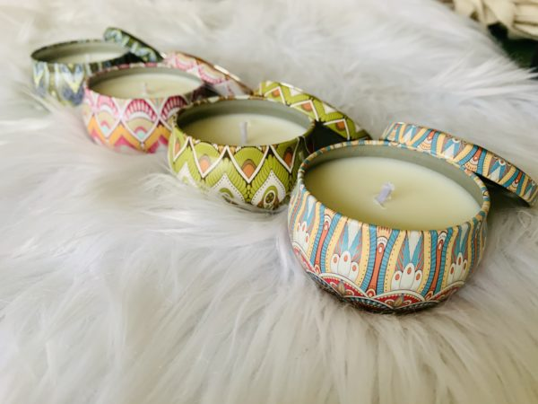 decorative candle tin